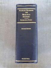 Standard Handbook For Mechanical Engineers 7th Ed. 1967 Hardcover