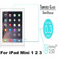 Real 9H Premium Tempered Glass Screen Protector Film For Apple iPad Mini 1 2 3