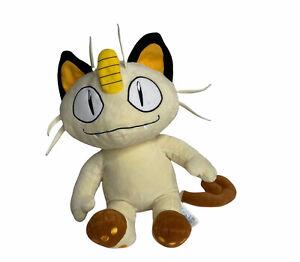 "Pokemon Meowth Build A Bear BAB Sound TALKING Plush Stuffed Toy 16"" Used"