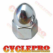 Chrome Horn Spike Acorn Nut For 91-15 Harley Touring Dyna Sportster Softail