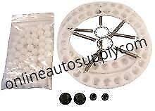 Vehicle Wheel Alignment Turnplate Rebuild Kit 9/16 Delrin Bearings Rings