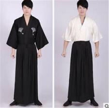 Japanese Men's Kimono Ryoma Sakamoto Samurai Bushi Costume Jacket Hakama Pants