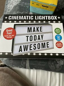 LED Cinematic Party Light up Box With 85 Letters & Symbols Message Sign Board