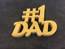 #1 Dad Father's Day Gift Wooden Plaque Art Craft Sign Novelty