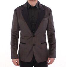 NWT $1520 DOLCE & GABBANA Gray Black Silk Slim Fit Blazer Jacket IT44 /US34 /XS