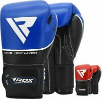 RDX Boxing Gloves Sparring Muay Thai Training Leather Punch Bag Mitt Kickboxing