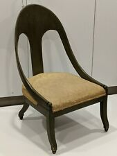 RARE Michael Taylor For Baker Spoon Back Slipper Klismos Accent Chair
