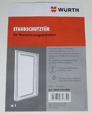 Würth Staubschutztür Baustellentür mit Reißverschluss Staubschutz Türmaß 2,1mx1m