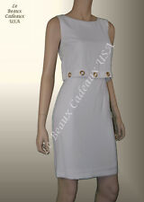 IVANKA TRUMP Women Dress Sze 10 IVORY OFF-WHITE Sleeveless OVERLAY Dressy LBCUSA