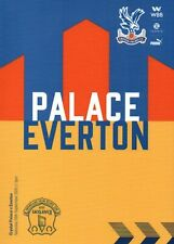 CRYSTAL PALACE v EVERTON 2020/21 Premier League Programme.