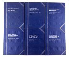6 American Blue Coin Collector Books Silver Dollar Half Whitman USA Made M512