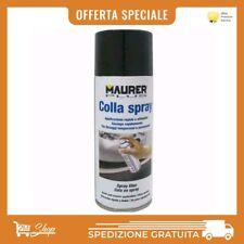 COLLA SPRAY ADESIVO UNIVERSALE PER CIELO AUTO GOMMA METALLO LEGNO MAURER 400 ML