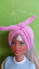 Only hearts club doll Pink head wrap fits Barbie, Bratz, Monster High, Etc. New
