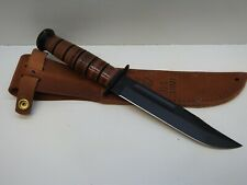 KA-BAR US ARMY Fighting Knife with Leather Sheath