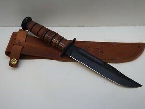 KA-BAR US ARMY Fighting Knife with Leather Sheath