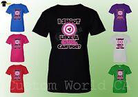 Women T-Shirt - I Shoot Like A Girl.Can You ? - New Design XT