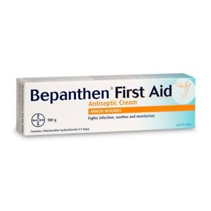 Bepanthen Antiseptic First Aid Cream 100g fights infection and soothes wounds