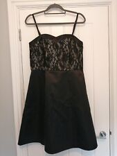 Be Beau Black Dress With Lace Overlay Size 14 Fit And Flare Dress