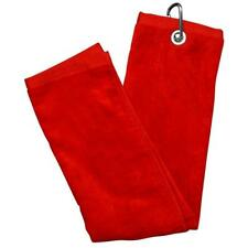 Luxury Tri-fold Golf Towel - Red
