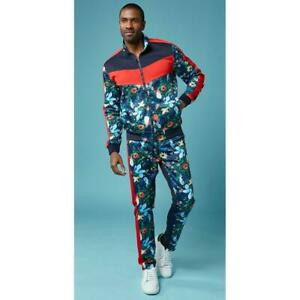 Stacy Adams Navy / Red / Multi-Color Cotton Blend Modern Fit Tracksuit Outfit