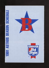 Burlington Astros--1991 Pocket Schedule--Old Style