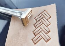 013-16 Quadratic Braid double Leather Stamp Brass collectibiles