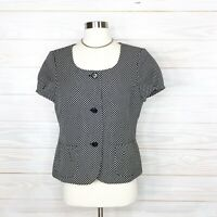 Ann Taylor Blazer Career Jacket Woman Size 10 New $168 Short Sleeve Office Work