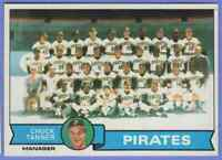1979 Topps Team Card And Checklist Pittsburgh Pirates #244