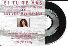 CD CARDSLEEVE MARIA CABRERA 2T (FRANCOIS VALERY) SI TU TE VAS SÉRIE TV 1993