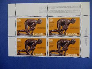 "# 656 MNH  Bk of 4 $1 ""Olympic Sculptures:  The Sprinter   CV=$12.00"