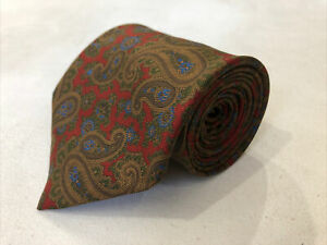 Coach Men's Red Novelty Paisley Belts Silk Tie $98
