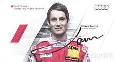 2011 Oliver Jarvis signed Audi Racing A4 DTM postcard