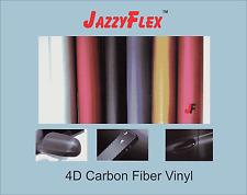 "4D Fiber Carbon Vinyl - JazzyFlex - 36"" x 96"", For stickers, cutting or car wrap"