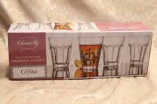 SET OF 4 CHANTILLY STUDIO CRYSTAL FINE CRYSTAL ALL PURPOSE GLASSES NIB