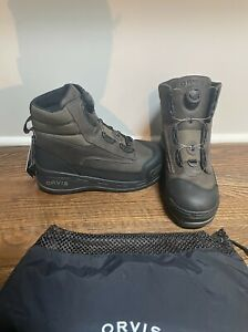 ORVIS Pivot Wading Boot Boa Men's Size 10 - New with Tags and Bag - Felt Sole