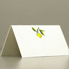 PLACE CARDS - Lemon on Branch.  Tent Style
