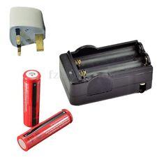 2PCS 3.7V 18650 Li-ion 3000mAh Rechargeable Batteries + Smart Battery Charger