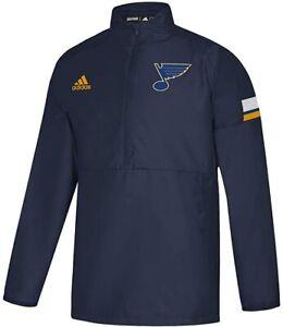 Medium - Adidas NHL St. Louis Blues Game Mode 1/4 Zip Jacket $75 MSRP