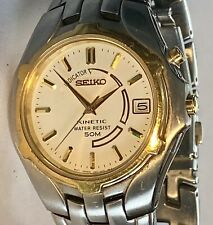 Seiko Kinetic Mens Stainless Steel  Watch  5M62-0A89