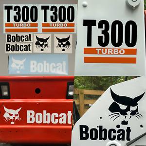 Bobcat T300 Turbo (SET OF 7) Skid Steer Replacement Aftermarket Vinyl Decals
