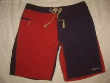 Patagonia X Common Threads Board Shorts Red Blue Color Block Men's Size 36