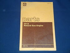 CAT CATERPILLAR 3512 NATURAL GAS ENGINE PARTS BOOK MANUAL S/N 4KC1-UP