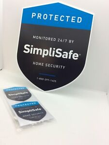 1 SimpliSafe Yard Sign and 2 decals - No Stake