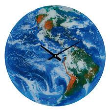 35 cm Terre Verre Horloge Murale Cuisine Maison Bureau Cadeau Nouveauté Globe DECOR Espace