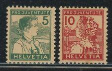 Switzerland 1915 Pro Juventute set Sc# B2-3 mint