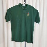 Vintage 1996 Atlanta Olympic Hanes Adult XL Green Polo Shirt w/ Tags