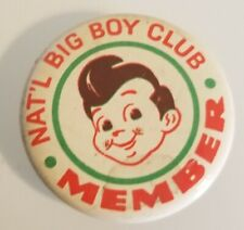 Vintage undated National Big Boy Club pinback 2 inch