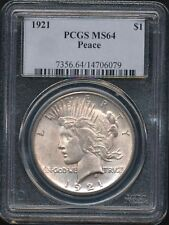 1921 Peace Dollar  PCGS MS64