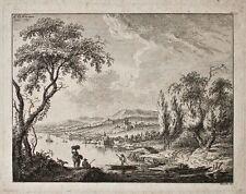 Franz Edmund Weirotter - o. T. (Flußszene) - Kupferstich - 1759