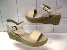 Ladies cream leather CLARKS SHOES wedges platforms mules size UK 6.5 ONSLOW BEAT